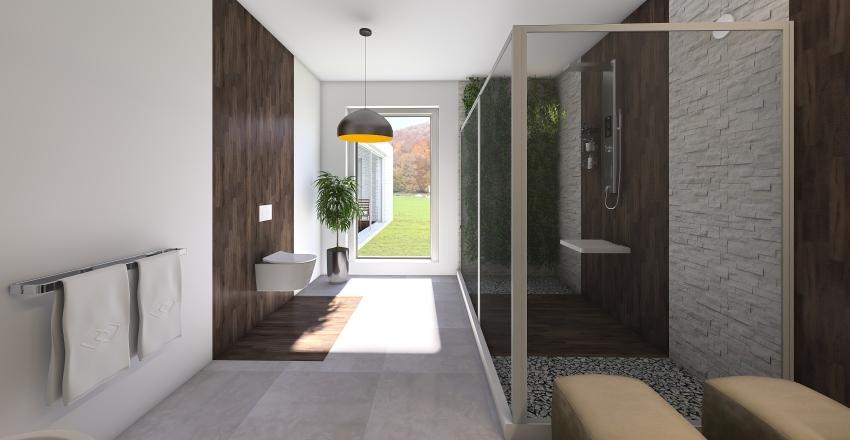 Modern mansion Interior Design Render