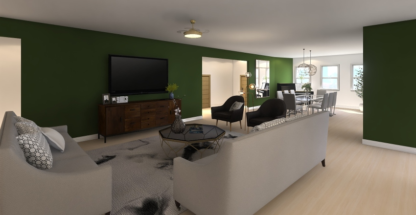 Family Penthouse Interior Design Render