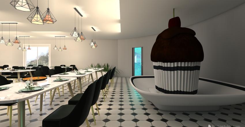 Money Honey and The Chocolate Factory Interior Design Render