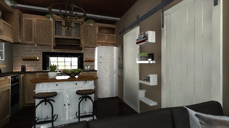 Garage/Duplex 50'x20' Interior Design Render