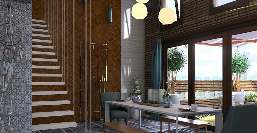 Long Townhouse Interior Design Render