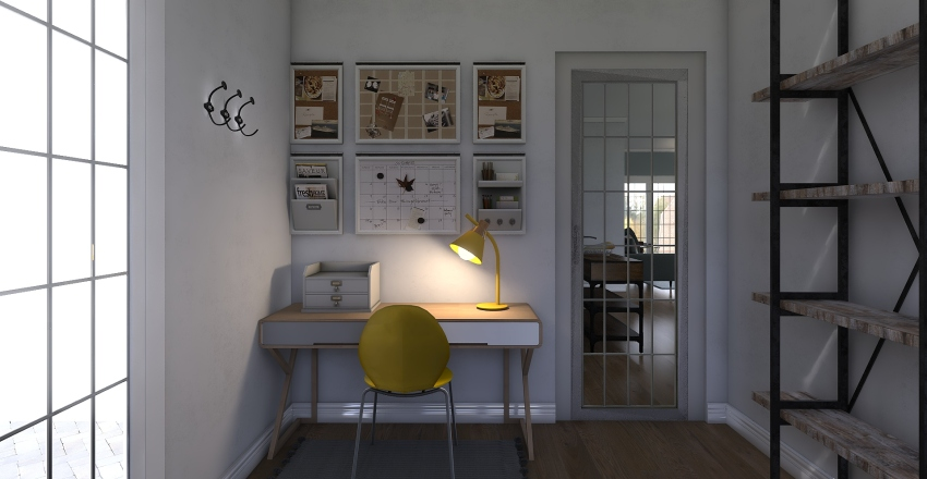Small Modern Home Interior Design Render