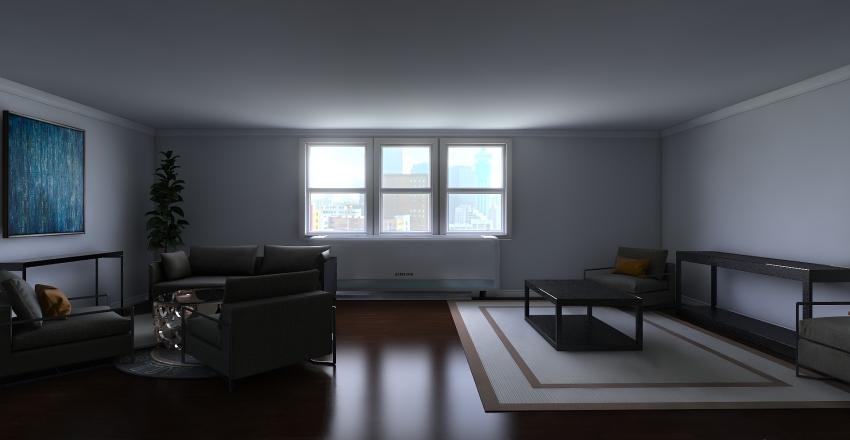 Jamee -- Living Room Interior Design Render