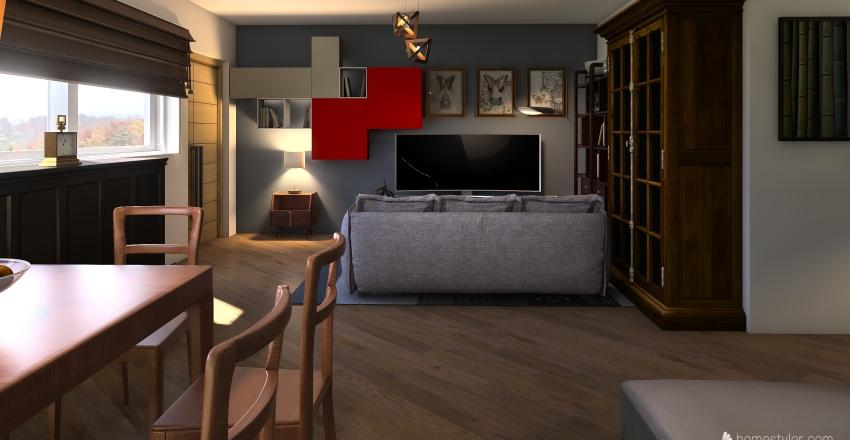 Cucina e Living Mall Interior Design Render