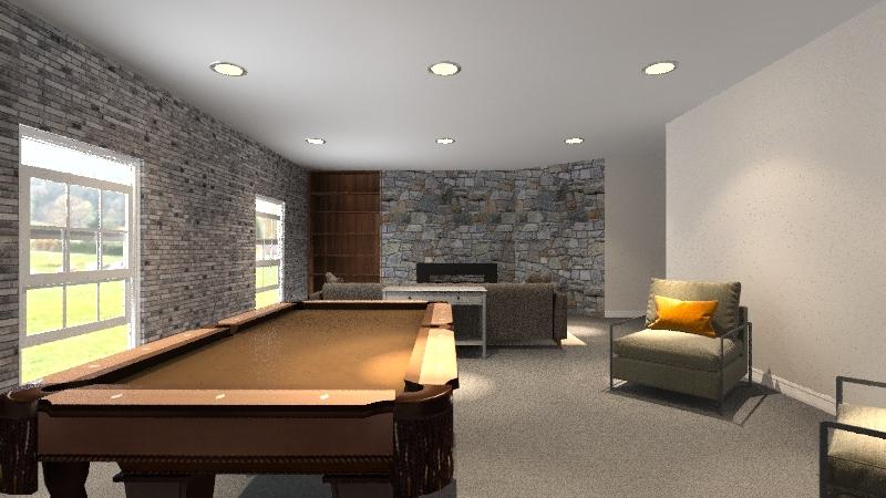 Tess S - Living Room Interior Design Render