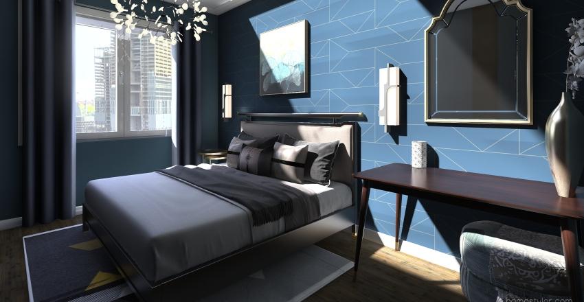 Квартира на 2 взрослых Interior Design Render