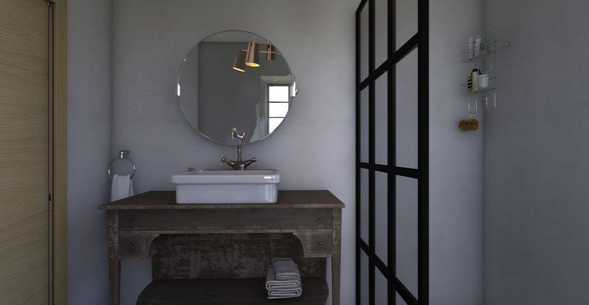 little cabin Interior Design Render
