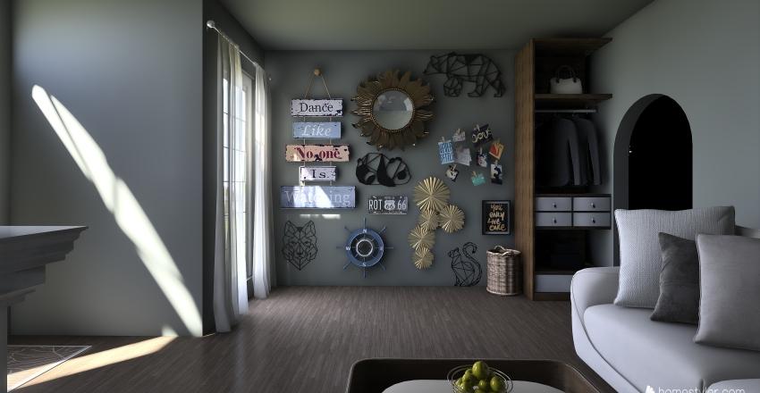small house #2 Interior Design Render