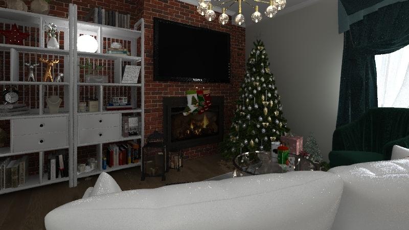 Christmas Room Interior Design Render