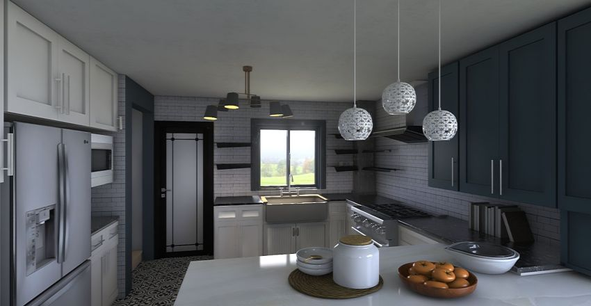 Kitchen Remodel in Berthoud Interior Design Render