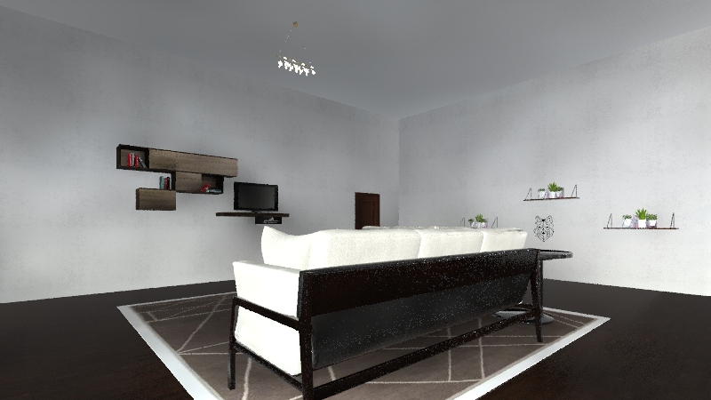 Modern bungalow Interior Design Render