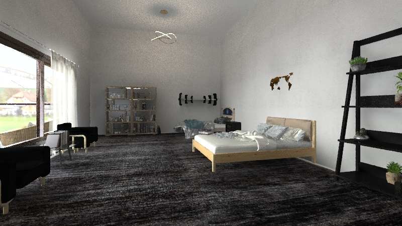 Modern bungalow Interior Design Render
