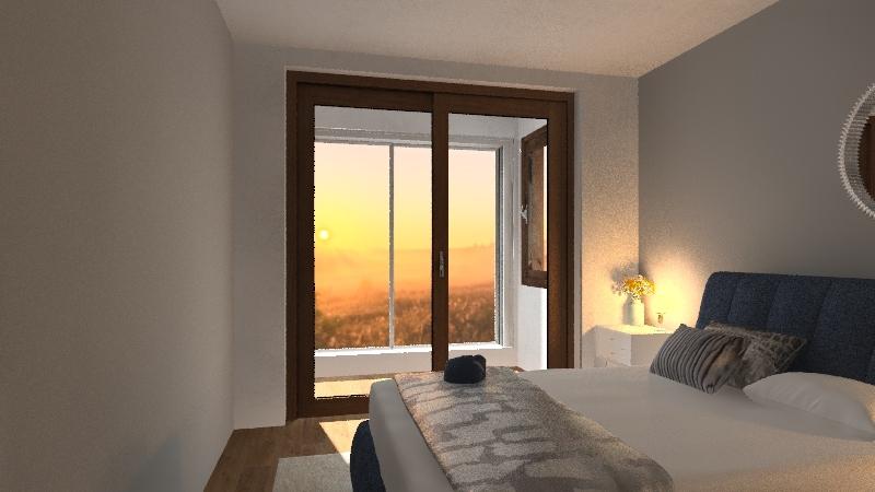 bedroom blue 1 Interior Design Render
