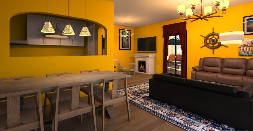 Casa Maratea Interior Design Render