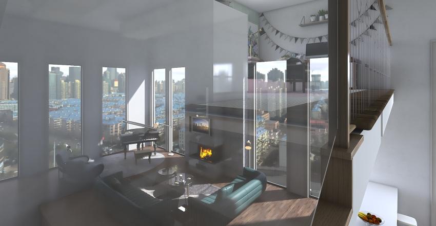 Open Apartment Interior Design Render