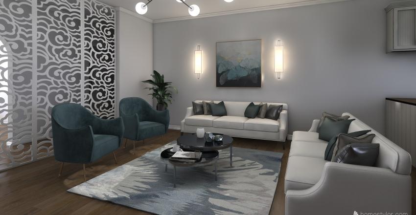 Modern Glam Interior Design Render