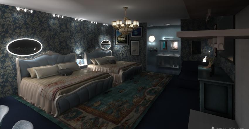 Little Mermaid Disney Hotel Interior Design Render