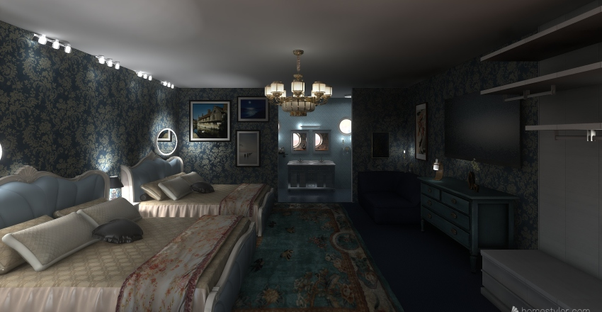 Little Mermaid Disney Hotel Interior Design Render