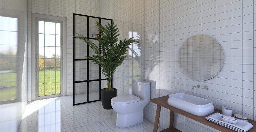 Shotgun House Interior Design Render