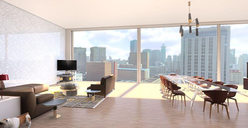 Dream Living/Dining Room & Kitchen Interior Design Render