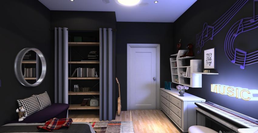 Teenage Simple Dream Interior Design Render