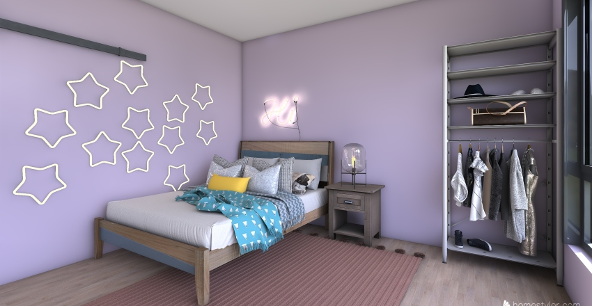 tween fun room Interior Design Render