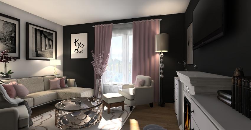 Barrington One Bedroom + Den Interior Design Render