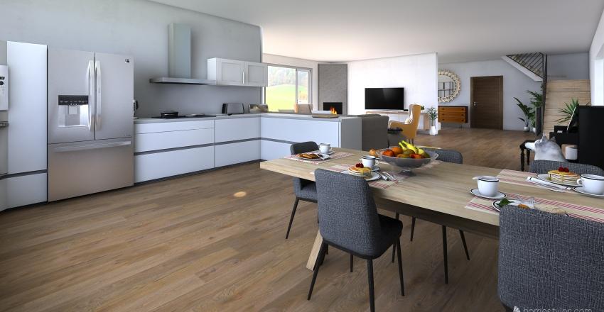 dům Interior Design Render
