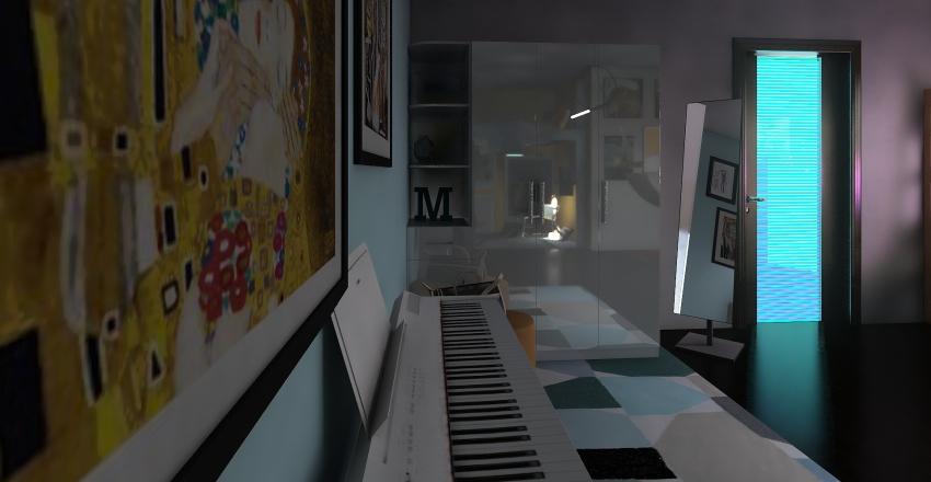 artist yellow zone Interior Design Render