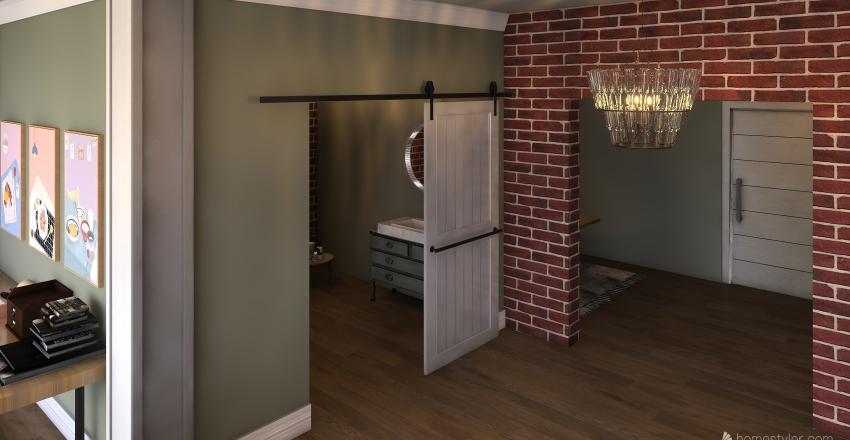 Artists loft Interior Design Render
