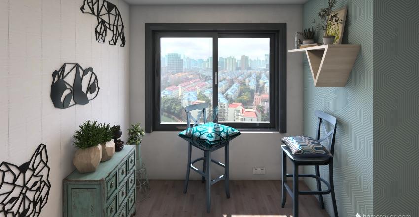 5th ave apartment Interior Design Render