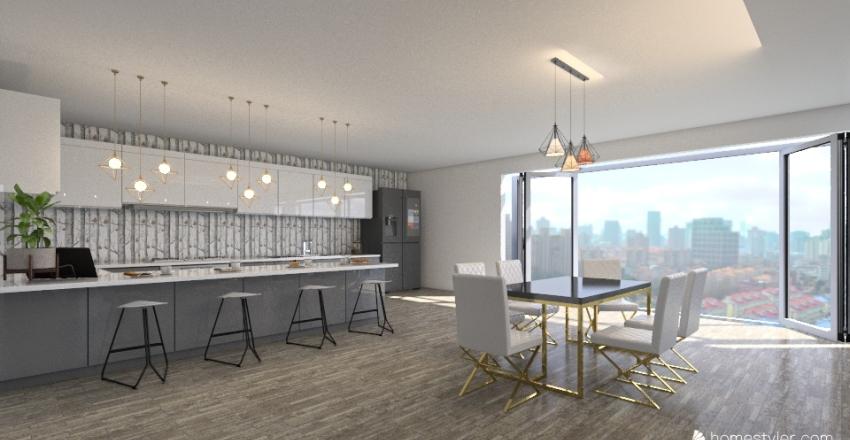 City house for 4  Interior Design Render