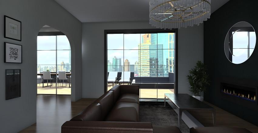 NYC Modern Apartment Interior Design Render