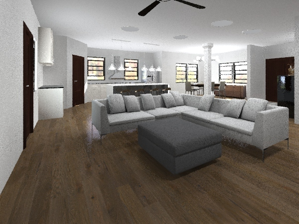 farmhouse Interior Design Render