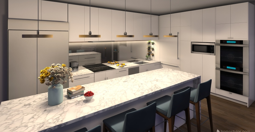 Sky Home Interior Design Render