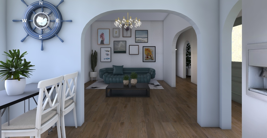 holiday home - A house by the sea Interior Design Render