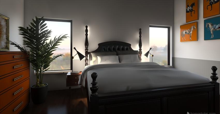 modern. Interior Design Render