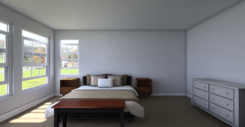Kevin - Bedroom Interior Design Render