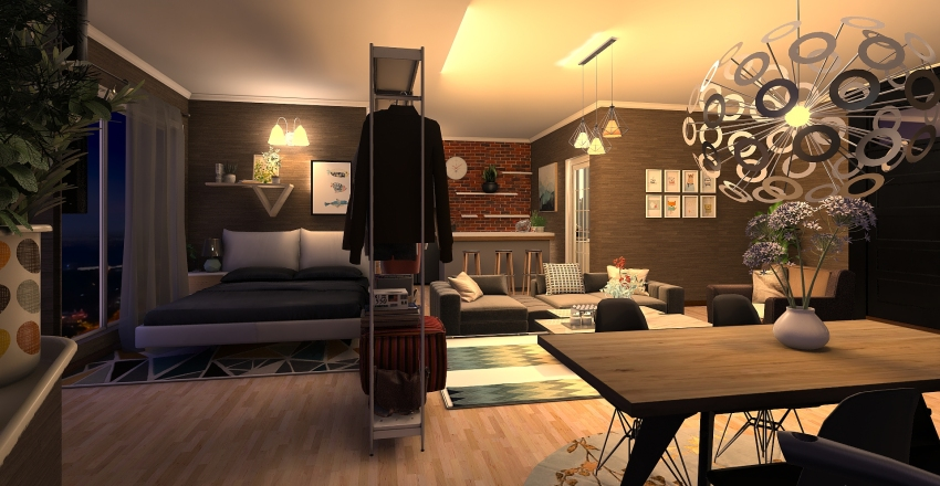 Apartment 2 Interior Design Render
