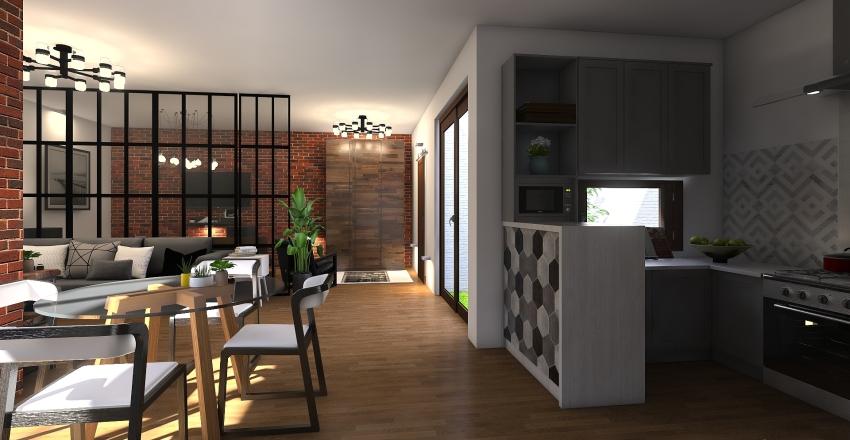 Industrial urbano Interior Design Render