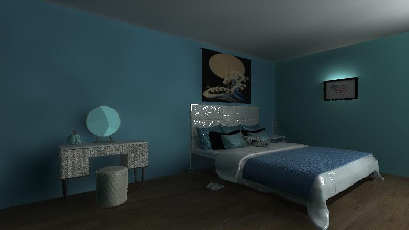 Beach themed Interior Design Render