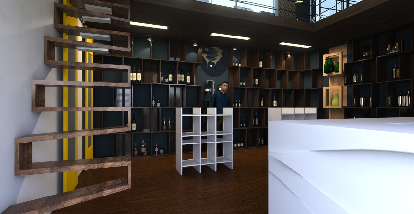 licor store Interior Design Render