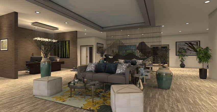 HOTEL LOBBY Interior Design Render