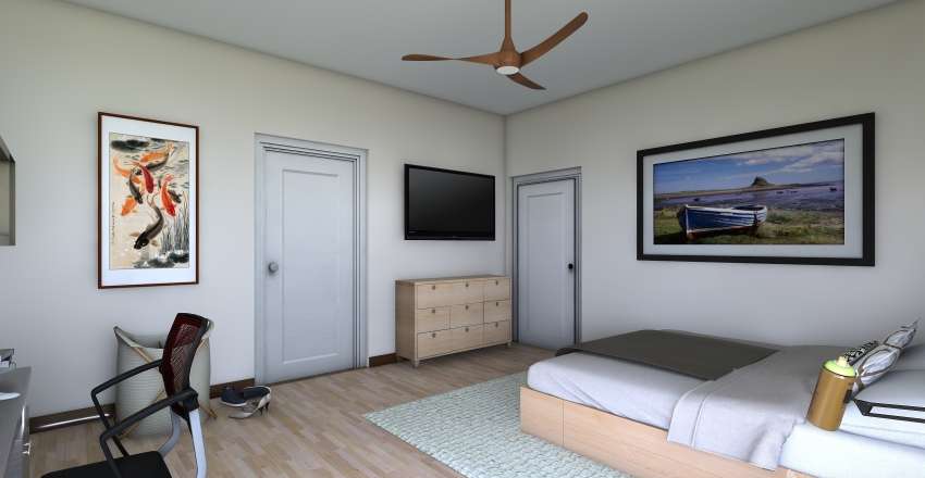 Modern/Contemporary One Story Home Interior Design Render