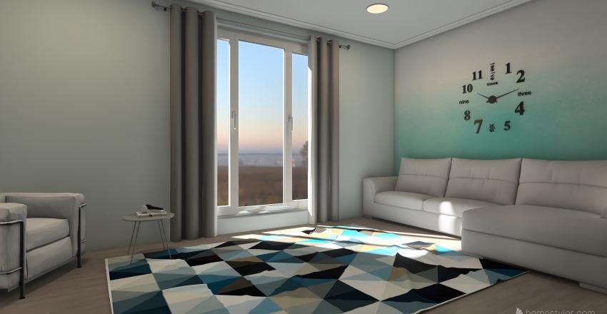 Pretty country house Interior Design Render