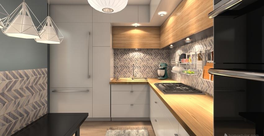 mieszkanie Dawlewiczow Interior Design Render