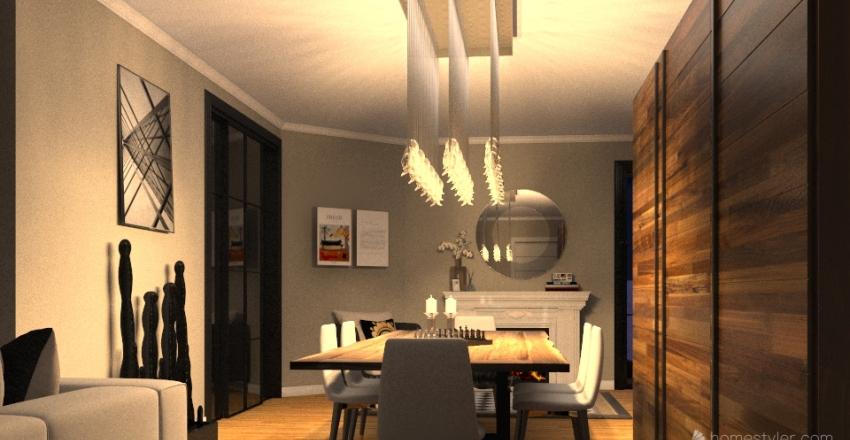 modern house in L.A. Interior Design Render