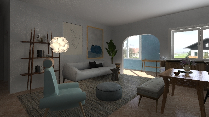 Nordic naturelle Interior Design Render