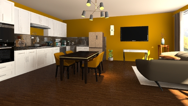 Annie + Amelia  Interior Design Render