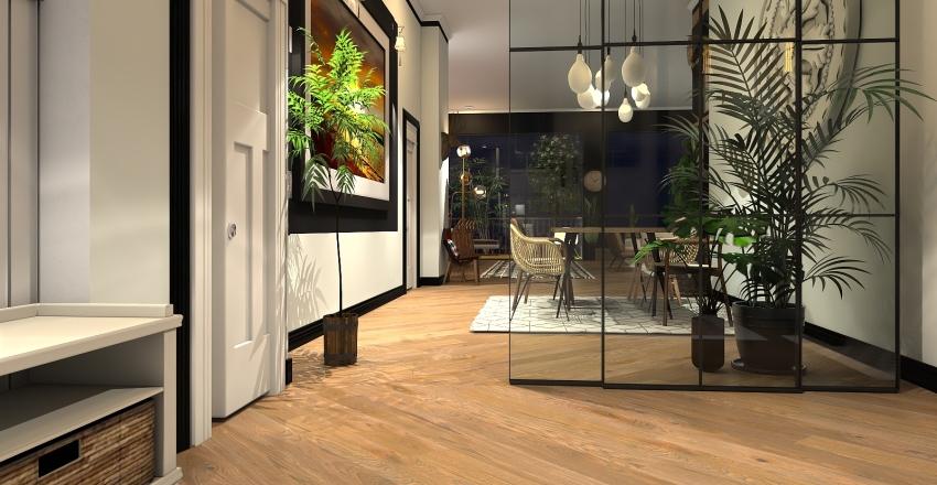 Boho urban cozy home Interior Design Render